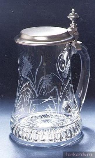 Немецкая кружка с резьбой - колосья пшеницы