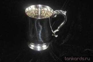 Георгианская пивная кружка из олова
