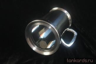 Пивная кружка со стеклянным / прозрачным дном и шиллингом