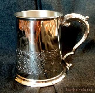 Английская пивная кружка с изображением кельтского дракона