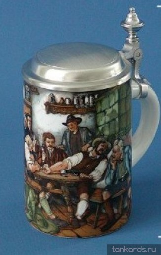 Кружка для пива с нанесенным изображением сцен из бара