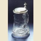 Немецкая пивная кружка с гравировкой по стеклу