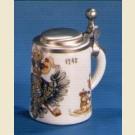 Сувенирная кружечка из керамики с изображением герба