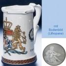 Немецкая пивная кружка (кувшин Гауди) с изображением герба 1794 года
