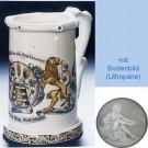 Немецкая пивная кружка (кувшин Гауди) с изображением герба, содержащего хмель и солод