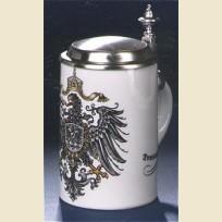 Пивная кружка с крышкой и изображением герба Германии