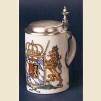 Кружка с плоской крышкой с изображением герба Королевства Бавария 1806 года