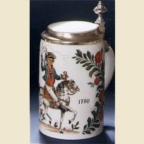 Коллекционная кружка керамическая с изображением всадника 18 века (1770 года)