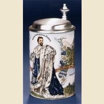 Коллекционная немецкая кружка с изображением немецкого барона