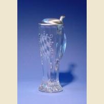 Стеклянный пивной стакан с ручкой и крышкой Бавария