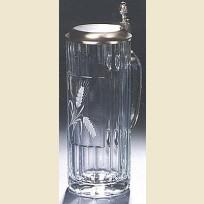 Стеклянная пивная кружка объемом пол-литра с изображением солода