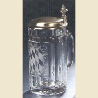 Стеклянная пивная кружка с гербом Баварии