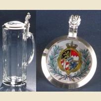 Коллекционная кружка с изображением герба Баварии на крышке
