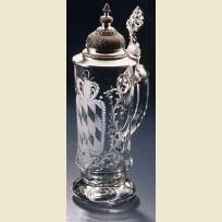 Пивная кружка из хрусталя с гравировкой герба Баварии