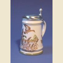 Пивная кружка необычной формы с изображением дикой утки