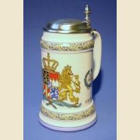 Кружка литровая с крышкой и изображением герба Королевства Бавария 1794 года