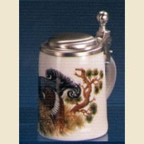 Подарочная кружка сувенирная с изображением черного петуха