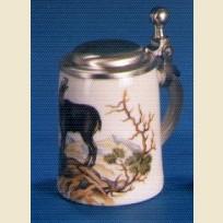 Сувенирная кружка с изображением серны или черного козла