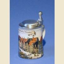 Сувенирная, подарочная кружка Мюнхен, рынок в Мюнхене