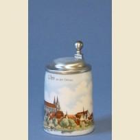Кружка подарочная с изображением немецкого города Ульм на реке Дунай