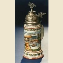 Немецкая коллекционная кружка с фигурной крышкой