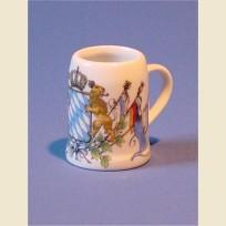 Керамическая пивная кружка - сувенир