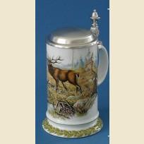 Коллекционная немецкая пивная кружка с изображением оленя