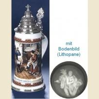 Кружка с конусовидной крышкой, полупрозрачным дном и изображением семьи