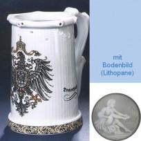 Пивная кружка (кувшин Гауди) с изображением Государственного орла Германии