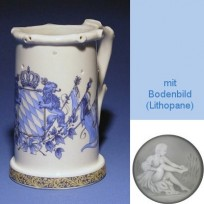 Немецкая керамическая (кувшин Гауди) с изображением герба с синими флагами
