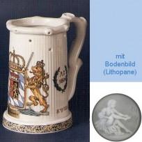 Пивная кружка (кувшин Гауди) с изображением герба 1806 года