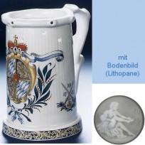 Кружка необычной формы (кувшин Гауди) с изображением герба 1742 года