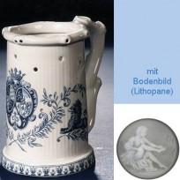 Немецкая кружка (кувшин Гауди) с изображением герба в синем цвете
