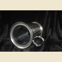 Оловянная пивная кружка с прозрачным, стеклянным дном